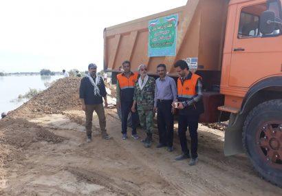 خدمات رسانی تیم کارشناسی شهرداری فردیس در خوزستان