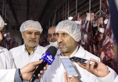 بازدید دکتر شهبازی استاندار البرز از کشتارگاه در شهرستان فردیس