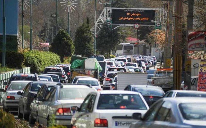 اجرای محدودیت ترافیکی در جاده کرج – چالوس