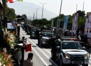 مراسم رژه نیروهای مسلح به مناسبت هفته دفاع مقدس برگزار شد