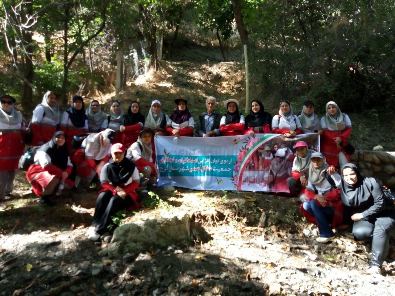 برگزاری دومین اردوی توان افزایی امدادگران و نجاتگران خواهر هلال احمر کرج