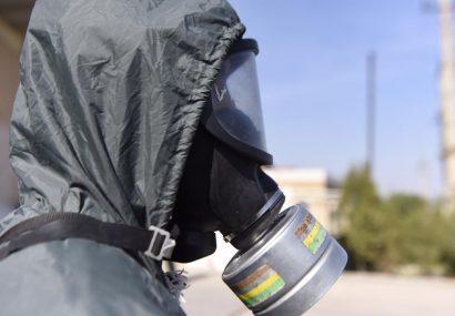 مانور عملیات شیمیایی در شهرک صنعتی اشتهارد برگزار شد