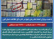 به همت سربازان گمنام امام زمان (عج) در اطلاعات سپاه البرز، مقادیر بسیاری اقلام بهداشتی کشف شد