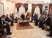 دیدار شهردار و اعضای شورای اسلامی شهر مشکین دشت با استاندار البرز