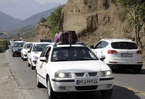 ترافیک سنگین در جاده کرج – چالوس