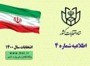اعلام برنامه زمانی فرایندهای اجرایی انتخابات ششمین دوره شوراهای اسلامی شهر و روستا