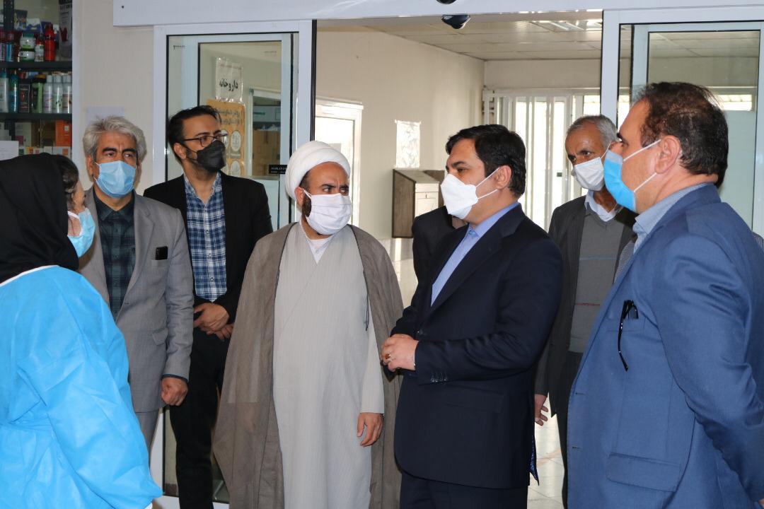 بازدید فرماندار چهارباغ از مراکز بهداشتی شهرستان